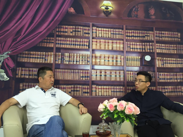 解长瑜先生与北京阔达副总裁王英华
