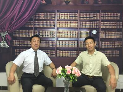 解长瑜先生与中装协秘书长张仁